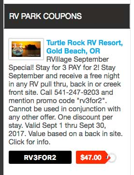 RVillage coupon