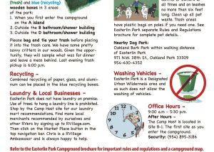 Welcome Flyers for RV Parks